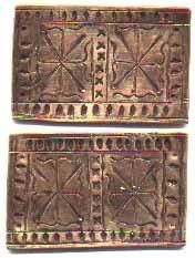 Esempi di placche ricostruite da Matthew Amt